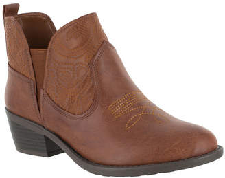 Easy Street Shoes Womens Legend Block Heel Pull-on Booties
