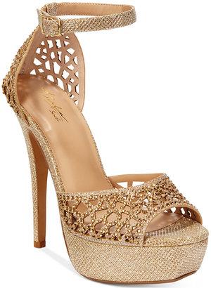 Thalia Sodi Felisa Rhinestone Sandals, Only at Macy's $99.50 thestylecure.com