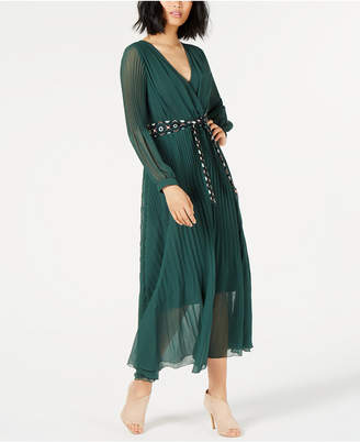 Marella Pleated Belted Maxi Dress