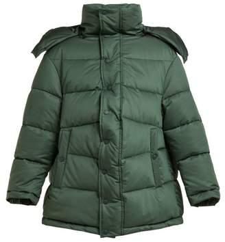 Balenciaga New Swing Puffer Jacket - Womens - Dark Green