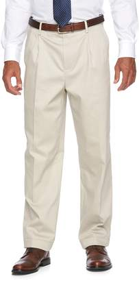 Croft & Barrow Men's No-Iron Relaxed-Fit Pleated Pants