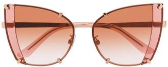 Dolce & Gabbana Eyewear faceted butterfly sunglasses