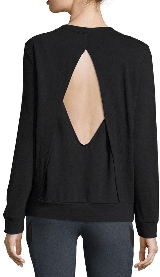 Lanston Diamond-Back Layered Athletic Pullover, Black