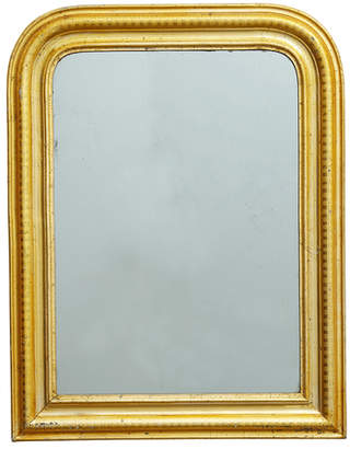Rejuvenation Large Arched Louis Philippe Mirror w/ Gold Gilt Frame