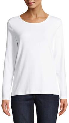 ST. JOHN'S BAY Long Sleeve Crew Neck T-Shirt