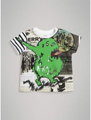 Burberry Monster Print Cotton T-shirt