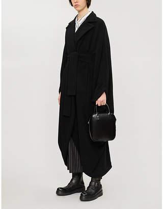 Limi Feu Draped double-breasted oversized wool-blend coat
