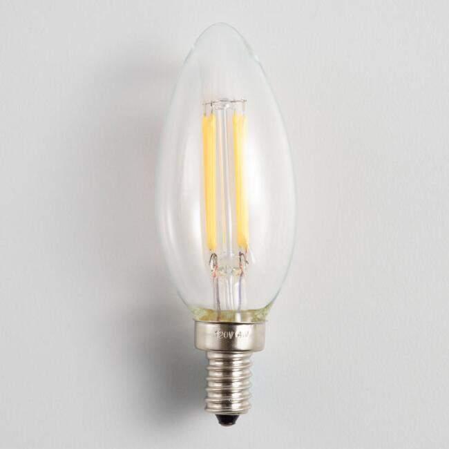 Candelabra LED Light Bulbs 4 Pack