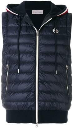 Moncler hooded gilet jacket