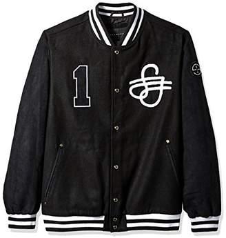 Sean John Men's Tall Size Varsity Bomber Jacket