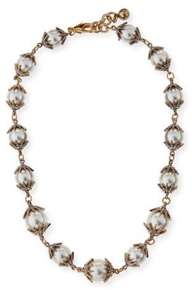 Lulu Frost Electra Pearly Crystal Cap Necklace $415 thestylecure.com