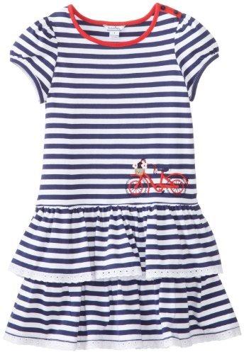 Hartstrings Big Girls' Striped Cotton Interlock Short-Sleeve Dress