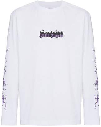 Palm Angels Dance Death print long sleeve top