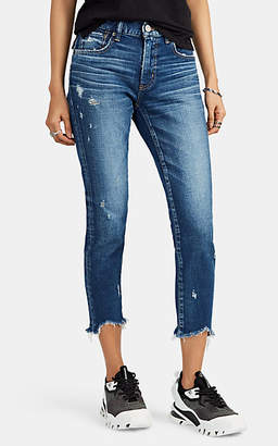 Moussy VINTAGE Women's Glendele Distressed Skinny Jeans - Blue