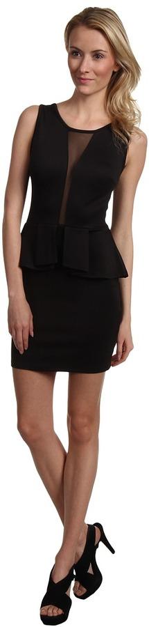 Type Z Bourbon Peplum Dress (Black) - Apparel
