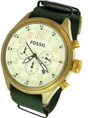 Fossil Men's DE5001 Green Nylon Quartz Watch with Dial
