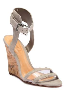 Schutz Kit Ankle Strap Leather Wedge Sandal