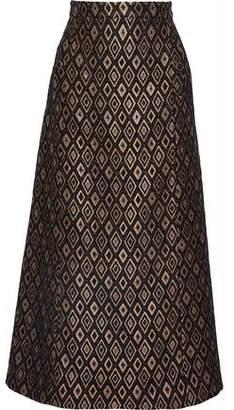 Vanessa Seward Metallic Jacquard Midi Skirt