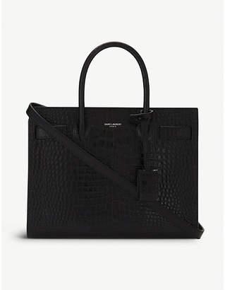 Saint Laurent Sac de Jour croc-embossed leather tote bag