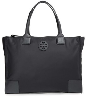 Tory Burch 'Ella' Packable Nylon Tote - Black $225 thestylecure.com