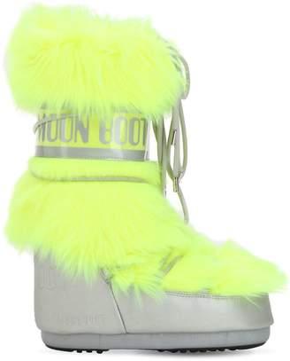 Moon Boot Long Faux Fur Snow Boots