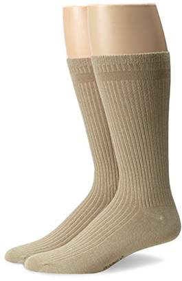 Dr. Scholl's Men's 2 Pack Everyday Non-Binding Flat Knit Crew Socks