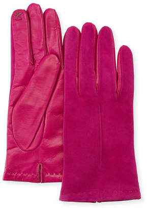 Portolano Tech Suede & Napa Leather Short Gloves