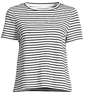 Eileen Fisher Women's Striped Organic Linen Jersey Tee