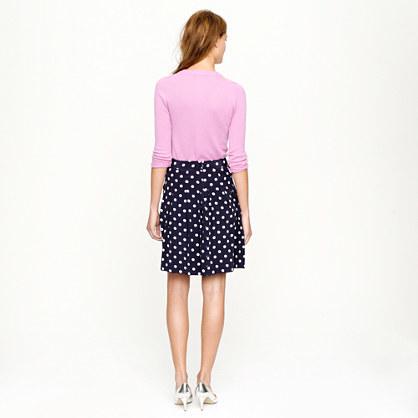Pleated skirt in polka-dot crepe 3