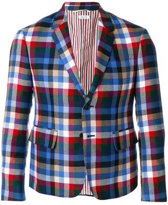 Thom Browne Gingham Tartan Check Sport Coat