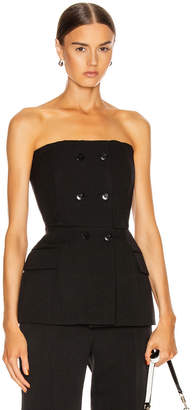 Givenchy Double Breasted Bustier Top in Black | FWRD