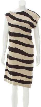 Balenciaga Striped Midi Dress