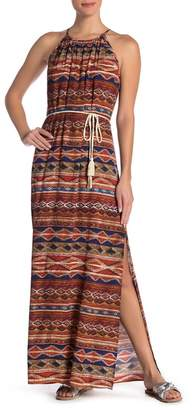 Karen Kane Patterned Halter Maxi Dress