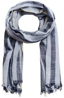 Mango Man MANGO MAN Stripe-pattern cotton scarf