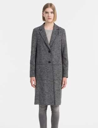 Calvin Klein melange wool blazer coat