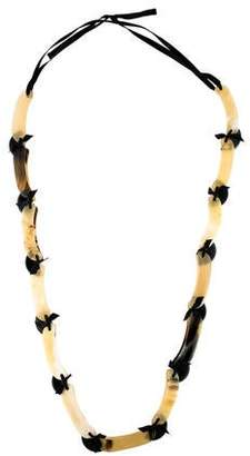 Marni Horn & Resin Collar Necklace