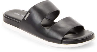 Calvin Klein Black Diona Double Band Flat Sandals