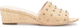 Loeffler Randall embellished strap slides