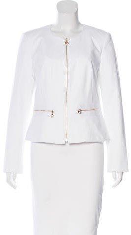 Calvin Klein Collarless Zip-Up Jacket