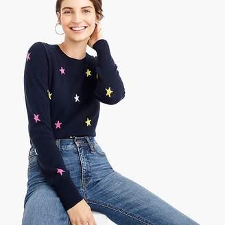 J.Crew Long-sleeve everyday cashmere crewneck sweater in stars