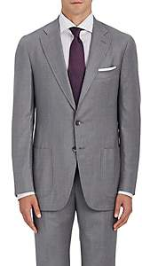 Isaia Men's Dustin Wool-Blend Two-Button Sportcoat-Light Gray