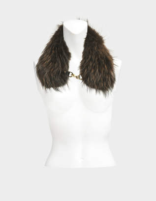 Yves Salomon Collar in marmot fur with chain