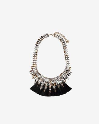 Express Stone Tassel Statement Necklace
