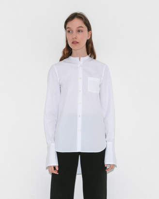 Organic by John Patrick Collarless Shirt w/ Cuff
