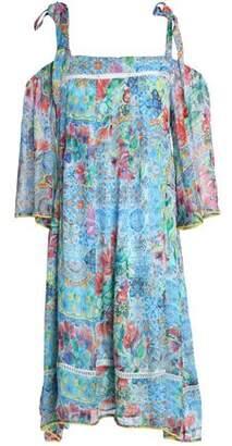 Matthew Williamson Cold-Shoulder Printed Silk Dress