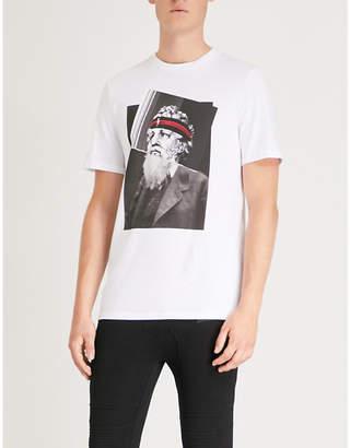Neil Barrett Printed cotton-jersey T-shirt