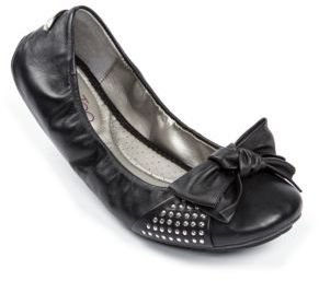 Me Too Lauryn Leather Flats with Studded Accents