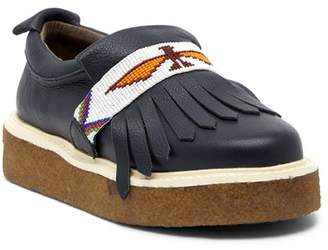 Australia Luxe Collective Glasto Kiltie Beaded Platform Leather Loafer