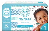 The Honest Company Teal Geo/Space Travel Size 1 Club Box Diapers