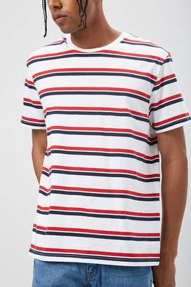 db4eef099a Mens Red And White Striped T Shirt - ShopStyle Canada